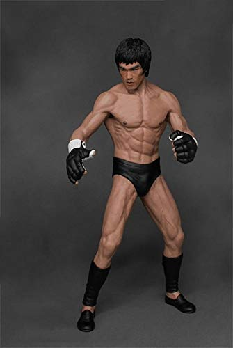 KaiWenLi Bruce Lee Chinese Kung-fu 1/12 Replaceable Face IP Man Master Character Model Hero Fighting Statue in PVC Collectibles/Decorations/Best New Year Christmas Gifts