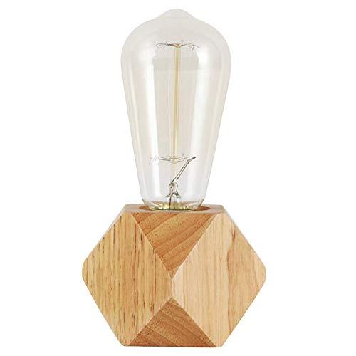 Xpccj Podstawa lampy stołowej gładka drewniana podstawa podstawa ładowarka nowoczesny design wnętrza z możliwością ściemniania przycisku do salonu przy łóżku stoliki kawowe biblioteczki biurko (bez żarówki)