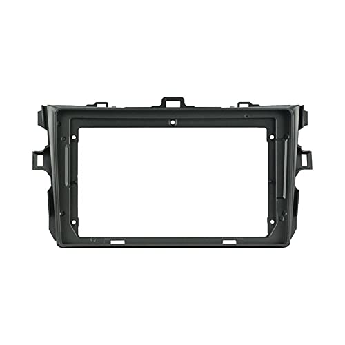 ZXZCV Ajuste para la navegación por Radio de automóviles Fascia Dashboard Decoration Kit Frame Front Panel Fit para 2008-2011 Doble DIN 9 Pulgadas Radio Player