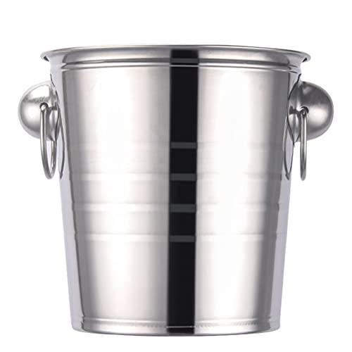 YARNOW Cubo de Champán de Acero Inoxidable 5L Cubo de Hielo Cubo de Champán Enfriador de Vino para Bar Restaurante