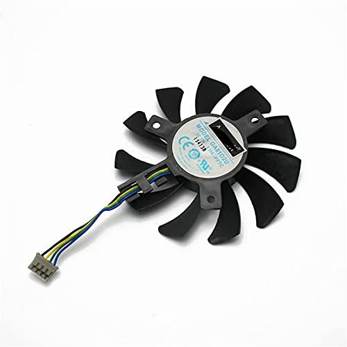 75mm GA81S2U GA81O2U Reemplazo del Ventilador del refrigerador GTX970 para Zotac GTX 660TI 650TI para Boost GTX 970 Tarjeta de gráficos Ventilador de refrigeración (Blade Color : Original 1PCS)