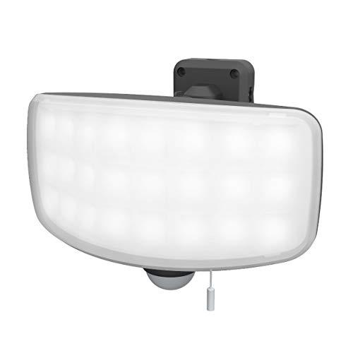 ムサシ(MUSASHI) センサーライト グレー 本体サイズ:幅20.4×奥行15.1×高さ14.5cm 27Wワイドフリーアーム式LEDセンサーライト LED-AC1027