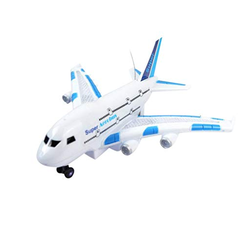Kanzd LED Indoor Remote Control Flying Airplane 2.4Ghz 2WD RC Airplane Aircraft Toys (A)