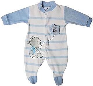 Papillon bodysuit velvet embroidered Ballon for boys-Newborn-Baby blue