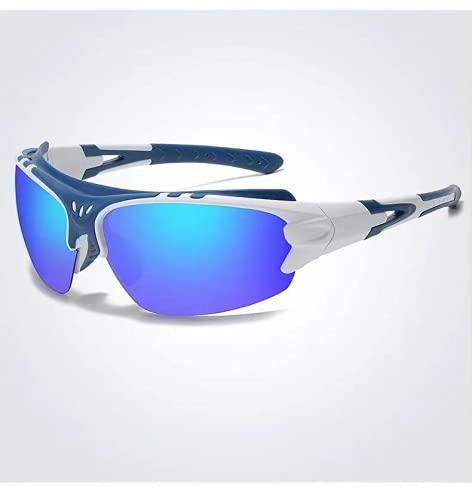 JUDIG Gafas de sol polarizadas para hombre y mujer, gafas de sol, conducción, correr, pesca, senderismo, Gore (plata azul)