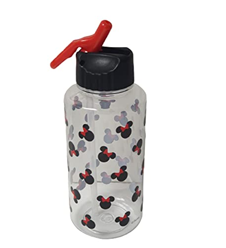 Disney Minnie Mouse Water Bottle Gym Fitness Running Sports Drinking Bottles 1L With Straw