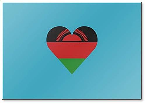 Malawi Flagge in Herzform, klassischer Kühlschrankmagnet