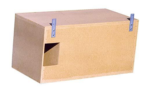 Naturschutzprodukt Schleiereule Nistkasten Nisthöhle Eulenkasten Schleiereulenkasten Typ 23 Fluglochweite 14cm x 19 cm aus Holzbeton Höhe 50 cm