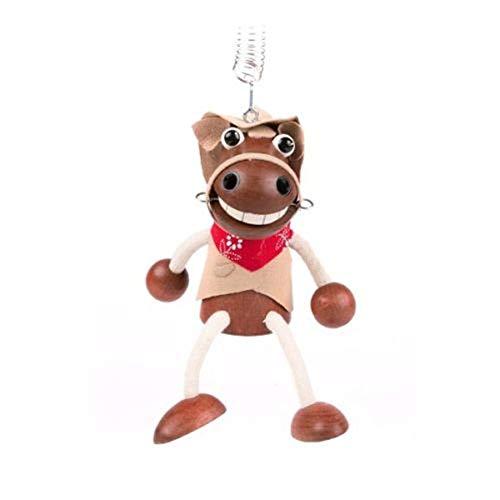 Brink Holzspielzeug Schwingfigur Cowboy Pferd Holz, Hüpfer, Zieher, Ziehfigur, Jumper, Feder