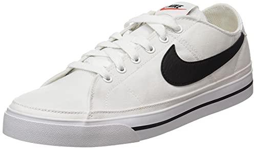 Nike Court Legacy Cnvs, Zapatillas de Gimnasio Hombre, White/Black, 43 EU