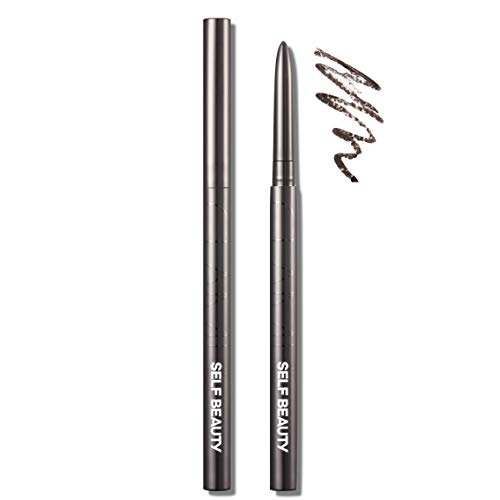 SELF BEAUTY Waterproof Smudge proof Long Lasting Gel Pencil Twist up Eyeliner 01 BLACK