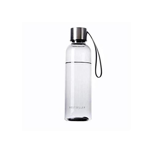 Bouteille d eau Fuite Sport Proof L'eau potable avec Sangle 500ml Brief Bouteille d'eau Vogue Homme Femme Bouteille d'eau Étudiant extérieur bouteille d eau sport (Color : Black, Size : +lt;500ml)