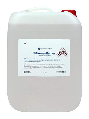 Knaus Schmierstoffe Silikonentferner | Lösemittel vor Klebe- und Lackierarbeiten | universell einsetzbar | 10L Kanister