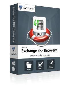 SysTools Exchange BKF Récupération (livraison par courrier électronique - pas de CD)