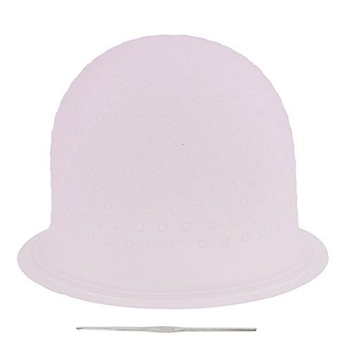 MagiDeal Réutilisable Silicone Bonnet de Glaçage à Mèche Coloration - Rose, 23,3 x 8,5 cm