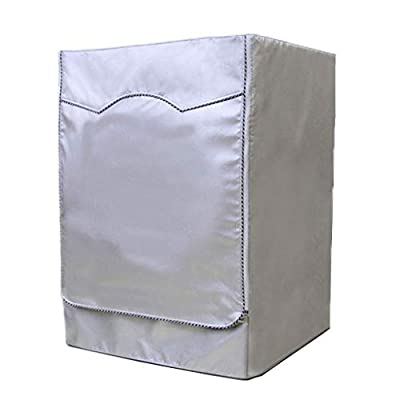 HOT1950s Encrypted Silver Oxford Cloth Durable Waterproof Washing Machine Cover Anti-aging Dustproof Protector Cover Sunscreen For Front Load Washer &Dryer 60X55 X85CM (Silver)