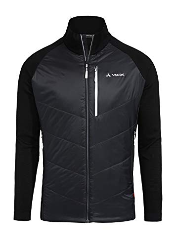 VAUDE Herren Jacke Larice LesSeam , Skitourenjacke aus innovativem Rundstrick, black, L/XL, 41713