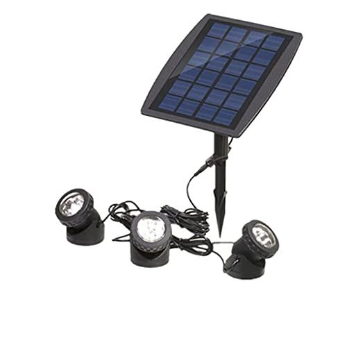 Abazq Luz Solar para Piscina, proyector de Buceo a Prueba de Agua Ip68, decoración subacuática para Fuente de Agua, Foco Solar Ajustable de 18 LED para paisajes