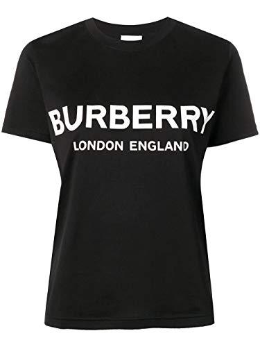 BURBERRY Luxury Fashion Damen 8011651 Schwarz Baumwolle T-Shirt | Frühling Sommer 20