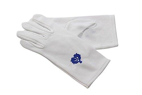 Gants Noirs et Blancs Herren Handschuhe , Blanc et Bleue (weiß) - 4047NB