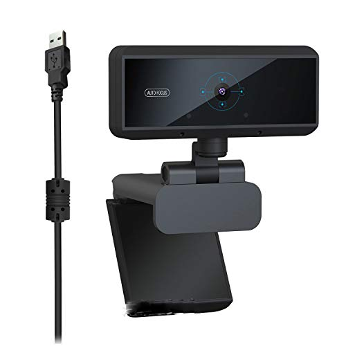 Webcam with Microphone Drive-Free USB Computer Webcast Camera 5 Million Autofocus with Microphone
