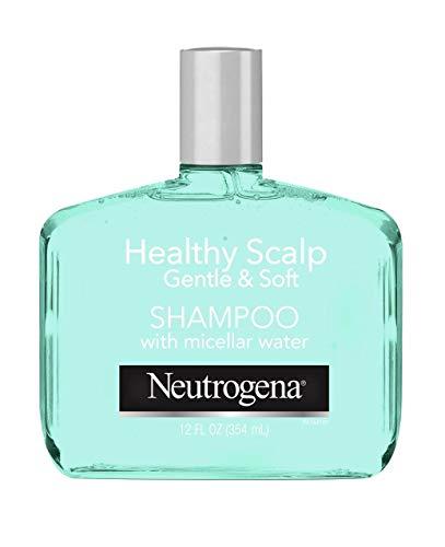 Neutrogena Gentle & Soft Healthy Scalp Shampoo for Sensitive Scalp & Lightweight Moisture, with Micellar Water, pH-Balanced, Paraben & Phthalate-Free, Color-Safe, 12oz