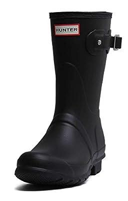 Hunter Womens Original Short Black Matte Rain Boot - 9 B(M) US