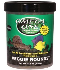 Omega One Veggie Rounds, 14mm Rounds, Sinking, 4 oz Container