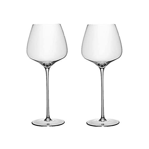 Copulas inquebrantables Copas de Vino Tinto Clear Stemware Shatter a Prueba de vinos Conjunto de 2 vitrinas de Vidrio