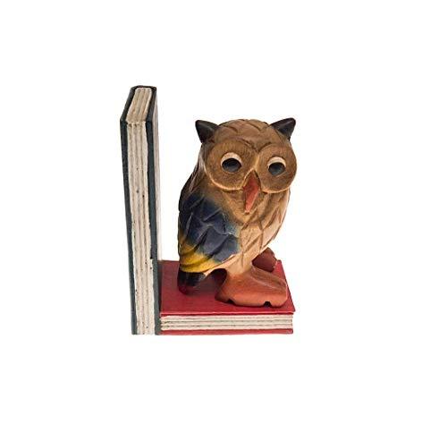 Handgeschnitzte Eule auf Büchern (Rombol)