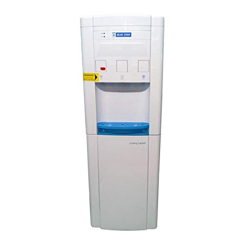 Harman Refrigeration Blue Star BWD3FMRGA Plastic Hot, Cold and Normal Water Dispenser with Refrigerator (Standard Size, White)