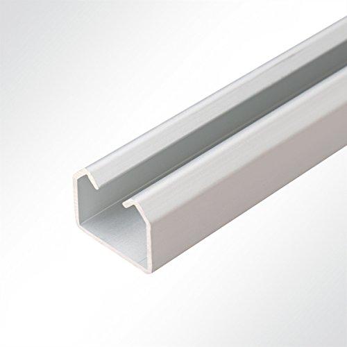 LYSEL Laufschiene Aluminium eloxiert 25x19mm Schiebetor Schiebetür Hallentür 2 Meter