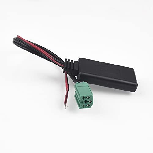 AutOcean Adaptador AUX Bluetooth para Coche, Cable estéreo de Radio inalámbrico para Renault Clio Kangoo Megane Scenic Trafic 05-2011