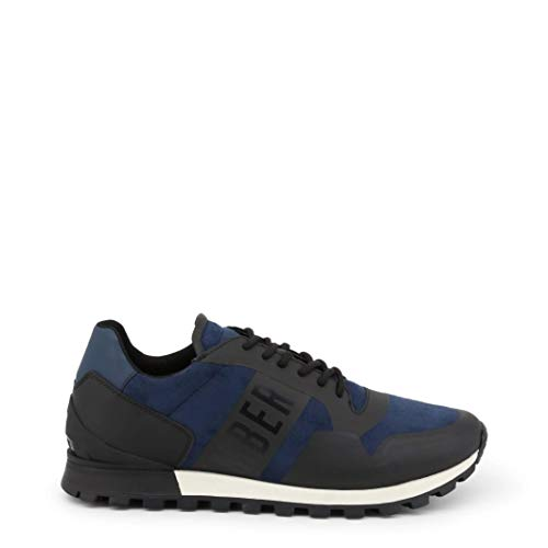 Bikkembergs Herren Fend-Er 1944 Sneaker Blau (Black/Blue 270) 43 EU