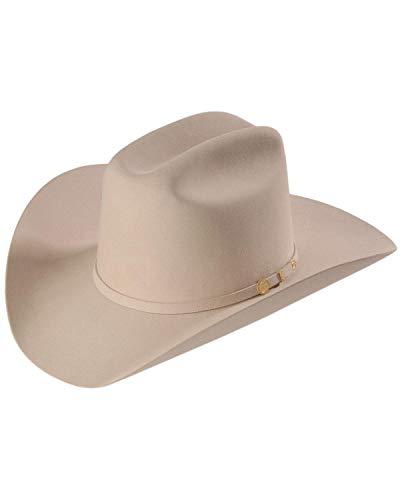 Stetson Men's 100X El Presidente Fur Felt Western Hat Silverbelly 7