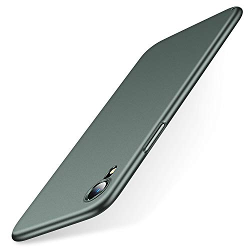 TORRAS Slim Fit iPhone XR Case, Ultra-Thin Hard Plastic Full Protective Cover with Matte Finish Grip Phone Case for iPhone XR 6.1 inch (2018), Midnight Green