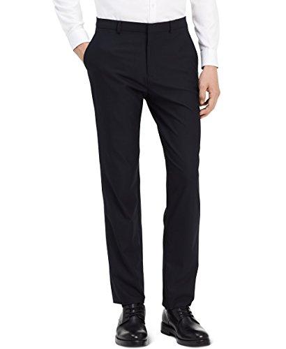 Kenneth Cole REACTION Men's Techni-Cole Stretch Slim Fit Suit Separate Blazer (Blazer, Pant, and Vest), Gunmetal Basketweave, 40 Regular