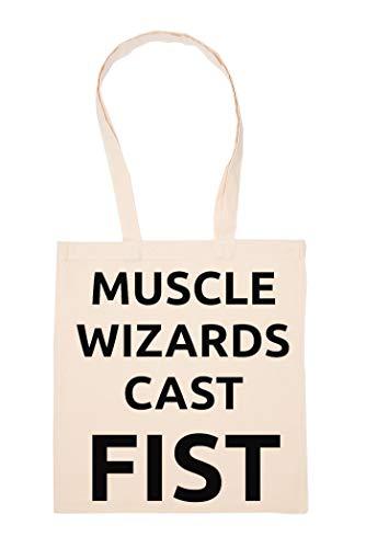 Muscle Wizards Cast Fist Bolso De Mano Reutilizable Compras Comestibles Bolsa Lienzo De Agoldón