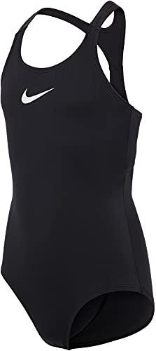 Nike Racerback One Piece Badeanzug Mädchen, Mädchen, Trainingsanzug, NESSB711-001, schwarz, M