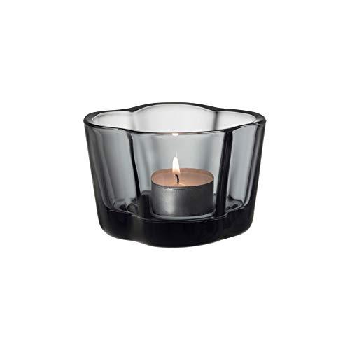 Iittala Alvar Aalto collection Windlicht, Glas, grau, 60mm