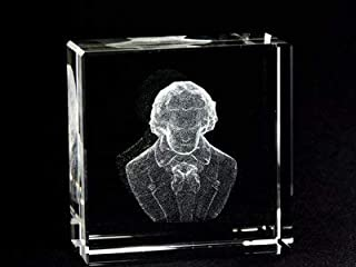 Asfour Crystal 1162-50-105 2 L x 2 H x 1 W inch Crystal Laser-Engraved Beethoven Miscellaneous Laser-Cut