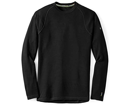 Smartwool Men's Base Layer Top - Merino 250 Wool Active Crew Black BLACK XL Mens
