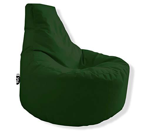 PH Sillón gamer en 2 tamaños diferentes y 25 XXL – 80 cm de diámetro, 30 cm de altura del asiento, 90 cm de altura, color verde oscuro