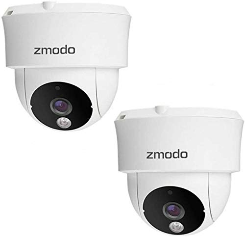 Zmodo 2 Pack 115° Wide-Angle Indoor Camera, Wireless Security System w/Remote Monitoring,...
