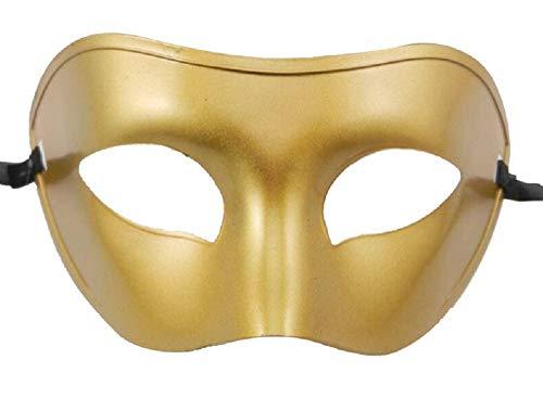 Mscara Veneciana Carnaval Hombre Enmascarado Halloween Dorado Adultos Nios