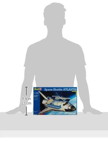 Revell Revell_04544 Modellbausatz Flugzeug 1:144 - Space Shuttle Atlantis im Maßstab 1:144, Level 4, originalgetreue Nachbildung mit vielen Details, Raumfahrt, Weltraum, 04544