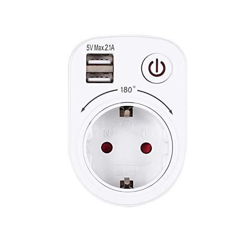 5 V 2.1A Elektrische Dual USB Ladegerät Adapter Eu-stecker Intelligente Steckdose Lade Netzschalter Outlet Home Travel JBP-X