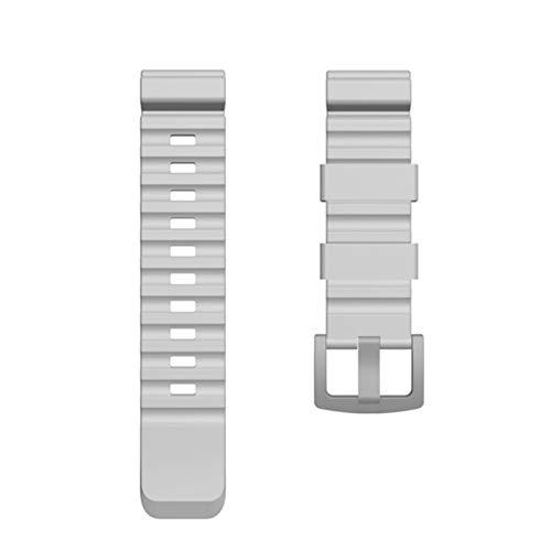 LLKHFA Correa de reloj colorida de 24 mm para reloj North Edge Active Smart Watch Correa para reloj Samsung Galaxy Watch para Huawei de repuesto (Color de la correa: gris, ancho de la correa: 24 mm)