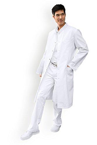 CLINIC DRESS Herren-Mantel Arztmantel mit Stehkragen weiß 54