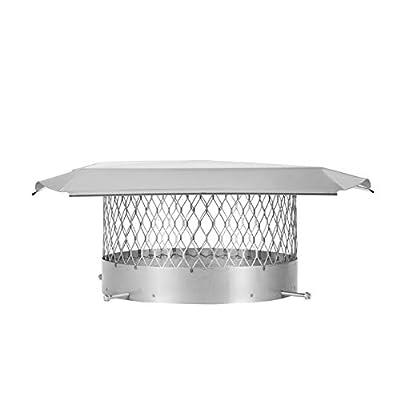 "Draft King SS12U Round Bolt On Stainless Steel Single Flue Chimney Cap, 12"" Diameter"